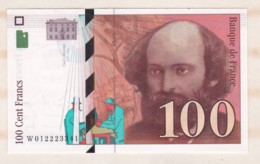 100 Francs Cézanne 1997 Série W.012223341. Billet Neuf. - 1992-2000 Ultima Gama