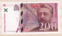 200 Francs Eiffel 1996 Série T.015836200. Billet Neuf. - 1992-2000 Ultima Gama