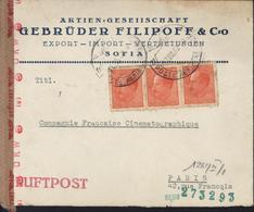 YT 383 X3 Luftpost CAD Poste Aérienne Sofia 27 VIII 42 Censure Allemande Craft Roulette Corbeau OKW Geoffnet G Vienne - Covers & Documents