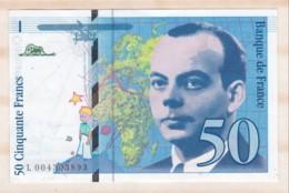 50 Francs St Exupéry 1992 Série L.004303893. Billet Neuf. - 1992-2000 Laatste Reeks