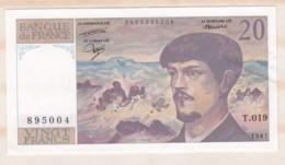 20 Francs Debussy 1987 Série T.019 N° 895004. Billet Neuf. - 20 F 1980-1997 ''Debussy''