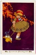 BUONA PASQUA - BAMBINI - BAMBINA CON UOVA - CASTELLI - 1934 - Vedi Retro - Formato Piccolo - Castelli