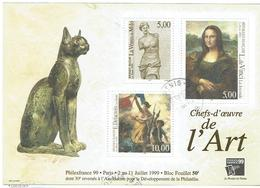 Bloc Philexfrance 1999 - CHEFS D'OEUVRE DE L'ART - Oblitéré - Blocs & Feuillets
