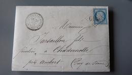 Lettre Cachet SAINT SATURNIN LES AVIGNON, Cachet Perlé, GC6106, De 1873 .................... MK-2283a - Marcophilie (Lettres)