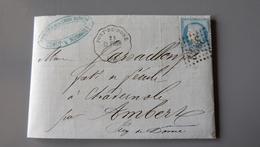 Lettre Cachetferroviaire PONT DE DORE, GC1930, 1874 .................... MK-2284 - Marcophilie (Lettres)