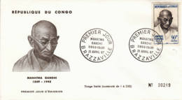 CONGO - 1967 - FDC - Mahatma Ghandi - FDC