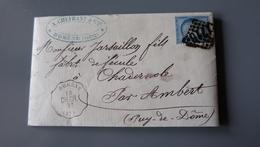 Lettre Cachetferroviaire DOMENE, GC1716, 1873, Bureau De Passe 2565 .................... MK-2285 - Marcophilie (Lettres)