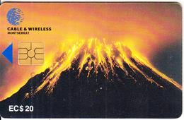 MONTSERRAT ISL. - Soufriere Hills Volcano, First Chip Issue, Chip GEM2.1, EC$20, Used - Montserrat