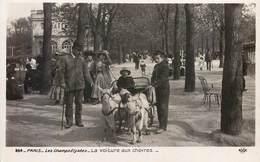 PARIS LES CHAMPS-ELYSEES LA VOITURE AUX CHEVRES ATTELAGE METIER PARC ET JARDIN 75 - Petits Métiers à Paris