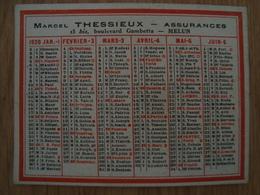 CALENDRIER MARCEL THESSIEUX ASSURANCES MELUN 1920 - Calendriers