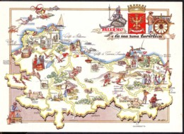 Mappa Della Provincia Di Palermo Anni '50 - Carte Geografiche