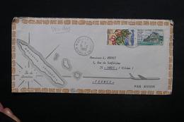 NOUVELLE CALÉDONIE - Enveloppe De Nouméa Pour Paris En 1969 , Affranchissement Plaisant - L 24255 - Briefe U. Dokumente