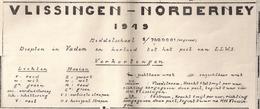 VLISSINGEN - NORDERNEY (PAYS-BAS) - PLAN DES PORTS De VLISSINGEN, De IJMUIDEN Et Du HOEK VAN HOLLAND - Cartes Topographiques