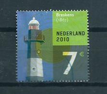 2010 Netherlands 7,00 Euro Vuurtoren,leuchtturme Used/gebruikt/oblitere - Gebruikt