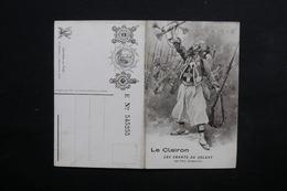 """MILITARIA - Carte Double """" Le Clairon  Les Chants Du Soldat """" De Déroulède - L 24259 - Patriotiques"""