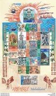 INDIA 2017, MAHABHARAT, Mahabharata, EPIC Story Of INDIA, Full Sheetlet Of 18 Stamps Large Sheet, Complete, MNH(**) - Nuevos
