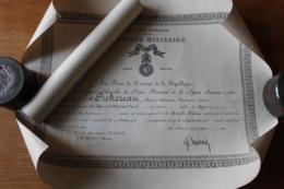 Diplome  Et Citation Du Meme Poilu Guerre 1914 1918 - 1914-18