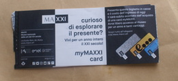 ITALY 2019, MAXXI MUSEUM CONTEMPORARY ARTS OF ROME TICKET - Biglietti D'ingresso