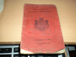 Passeport D Emigrant Kraljevina SHS  1924 Visas Holland Amerika Linija  Stamps Canada - Documenti Storici