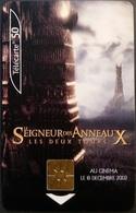 Telefonkarte Frankreich - Kino,Movie,Film - Herr Der Ringe - 50 Units - 10/02 - Frankreich