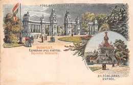 BUDAPEST ( Hongrie )  -   Exposition Millenaire   -Fobejarat  -Ezezdeves Orsz.Kiallitas ( Stamp ..entier Postal Verso ) - Hongrie