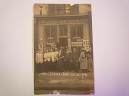 """GP 2019 - 461  Avenue De SAINT-OUEN  """" LAVATORY MODERNE """"  Carte  PHOTO  1912   XXXX - Arrondissement: 17"""