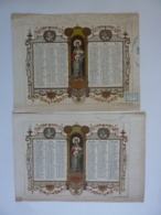 ALMANACH  1851  CALENDRIER SEMESTRIEL  Qté 2 Allégorie Religieuse   Arabesque  Religieuse  Lithographie - - Calendriers