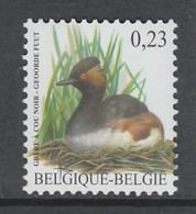 TIMBRE NEUF DE BELGIQUE - OISEAU DE BUZIN : GREBE A COU NOIR N° Y&T 3525 - Canards