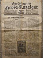 """Militaria 2. Weltkrieg Zeitung Vom 28. April 1937 """"Gardelegener Kreis-Anzeiger"""" - Zeitungen & Zeitschriften"""