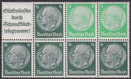 Deutsches Reich    .   Michel   .   H-Blatt  35    .    **    .   Postfrisch      .   /    .   MNH - Se-Tenant