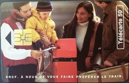 Telefonkarte Frankreich - Werbung - Eisenbahn SNFC - 50 Units - 12/95 - Frankreich