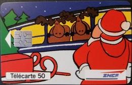 Telefonkarte Frankreich - Werbung - Eisenbahn SNFC - Weihnachten - 50 Units - 12/94 - 1994