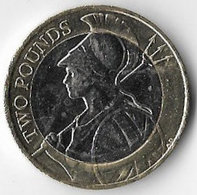 United Kingdom 2016 £2 Britannia (A) [C793/2D] - 1971-… : Monete Decimali