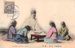 COREE KOREA    -  A Korean Teacher & Pupils ( Stamp And Cachet Chemulpo 1913 ) - Corée Du Sud