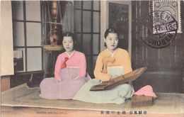 COREE KOREA    -  Korean  Singing Girls ( Stamp And Cachet Ninsen Chosen 1913 ) - Corée Du Sud