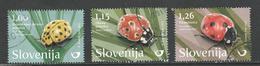 Slovenië, Yv 1059-60 + Zegel Uit Blok 101  Jaar 2017, Hoge Waarde, Gestempeld - Slovénie