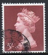 Great Britain 1969 Large Pre Decimal Single 5/- High Value Stamp. - 1952-.... (Elizabeth II)