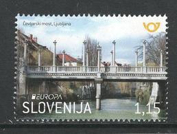 Slovenië, Yv  Jaar 2018,  Europa Cept, Bruggen, Hogere Waarde, Gestempeld - Slovénie