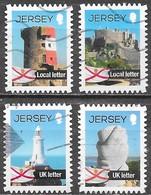 Jersey - Y&T N° 1725 / 1728 - Oblitérés - Lot 306 - Jersey
