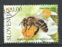 Slovenië, Yv Uit Blok,  Jaar 2018, Bijen, Bees, Hoge Waarde, Gestempeld - Slovénie