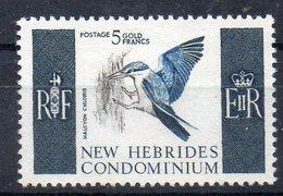 NOUVELLES  HEBRIDES      Timbre Neuf * De 1967  ( Ref  6190 )   Animaux - Oiseaux - Leyenda Inglesa