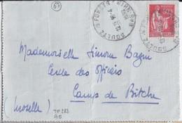 67 - BAS RHIN - SOULTZ /s FORETS - 1936 - TàD De Type  A5 - Marcophilie (Lettres)