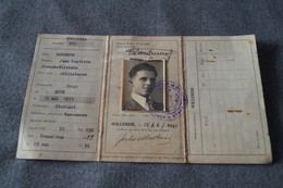 Willerzie 1942,ancienne Carte D'identité,Dardenne Jean-Baptiste,pour Collection D'encienne Carte. - Documents Historiques