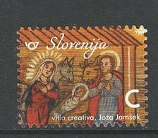 Slovenië, Yv  Jaar 2018, Kerstmis,  Gestempeld, - Slovénie