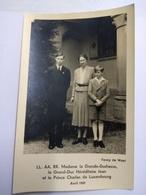 Grande-Duchesse Charlotte ,le Prince Jean Et La Prince Charles Du Luxembourg - Famille Grand-Ducale