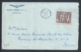 Carta Da Base Aérea 4 Das Lajes, Açores. Stamp Dos 25 Anos Da Revolução Nacional Do Estado Novo. - 1910-... République