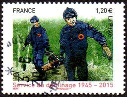 Oblitération Cachet à Date Sur Timbre De France N° 4927 - Anniversaire Du Service De Déminage - Used Stamps