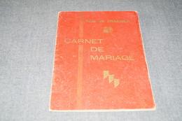 Charleroi,Fossez Julien Et Hament Andrée,1944,ancien Carnet De Mariage,pour Collection - Documents Historiques