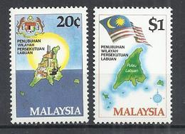 MALAYSIA 1984 - FORMATION OF LABUAN TERRITORY - CPL. SET - MNH MINT NEUF NUEVO - Malaysia (1964-...)