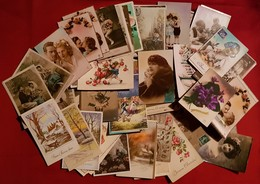 Lot De 128 CPA Fantaisies - Port Gratuit - 100 - 499 Postcards